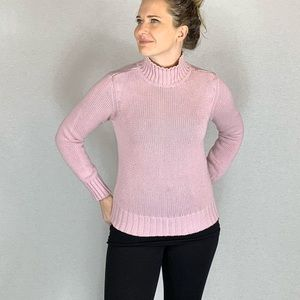 Caslon Muted Pink Turtleneck Sweater Small